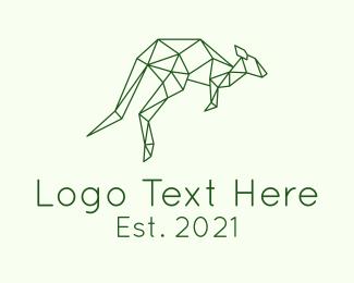 Animal - Geometric Kangaroo logo design