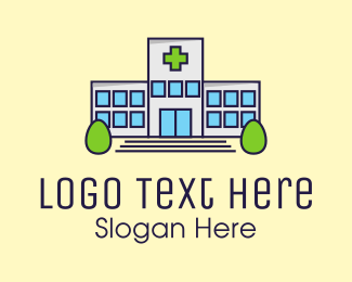 Hospital - Modern Hospital Building logo design