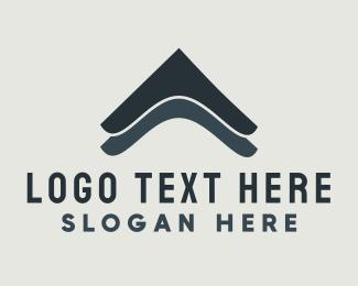 Polygonal - Roof Repair Construction logo design