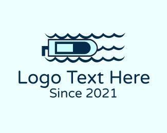 Sea - Sea Speedboat logo design
