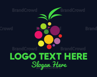 Orange And Purple - Colorful Fruit logo design