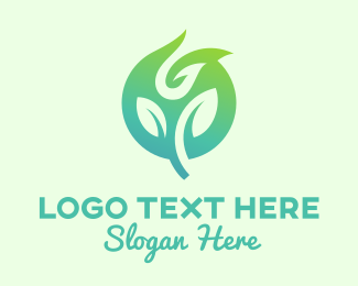 Elemental - Green Eco Plant  logo design