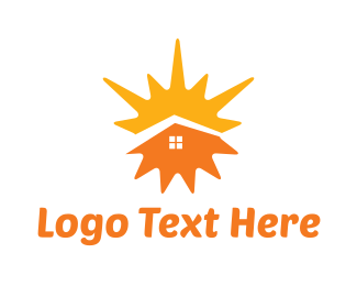 Summer - Sunny Home logo design