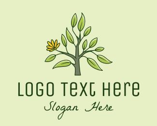 Plant - Carnation Flower Plant logo design