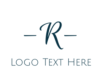 Timeless - Elegant Blue R logo design