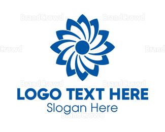 Renewable - Blue Flower logo design