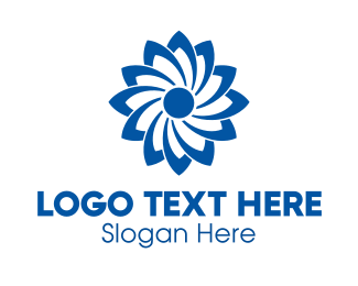 Propeller - Blue Flower logo design
