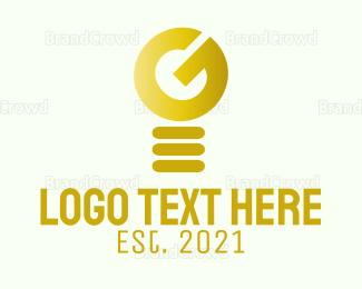 Smart - G Lamp logo design