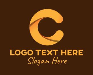 Letter C - Golden Brown Letter C logo design