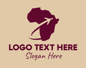 Travel Agency - Africa Airplane Travel logo design