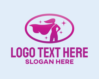 Female - Female Superhero logo design