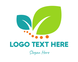 Menu - Leaves & Dots logo design