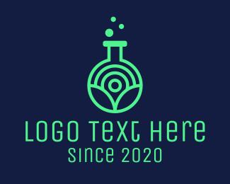 Biotech - Neon Biological Laboratory logo design