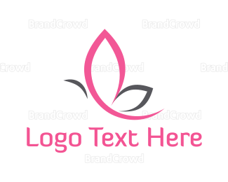 Beautify - Pink Butterfly logo design