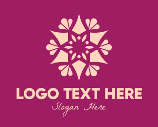Ornament - Ornamental Star Flower logo design