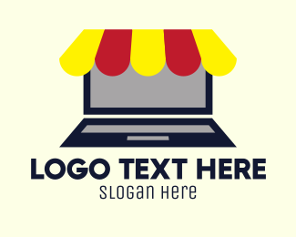 Tent - Laptop Shopping Tent logo design