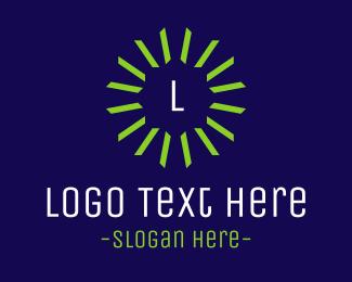 Radiant - Green Star Emblem logo design