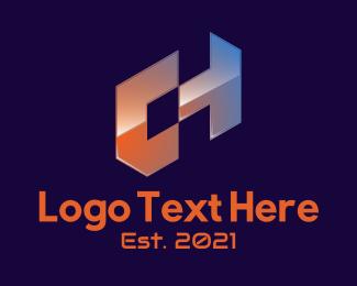 """""""Futuristic Letter CH """" by LogoRU"""