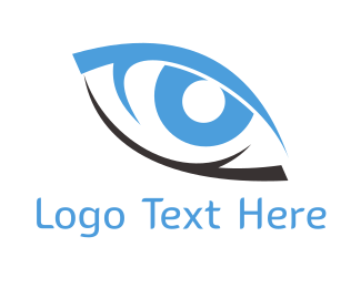 Vision - Black & Blue Eye logo design