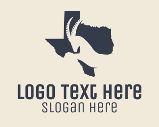 Ranching - Texas Map Gazelle logo design