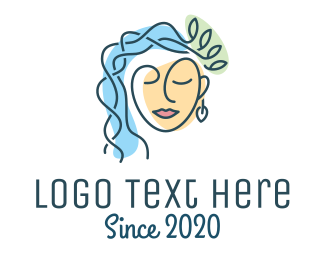 Goddess - Natural Woman Beauty logo design