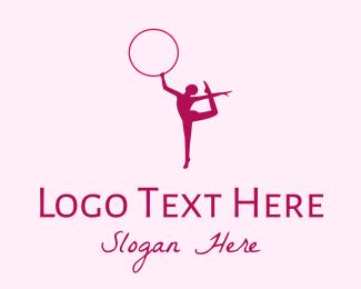 Gymnast - Ring Gymnast Silhouette logo design