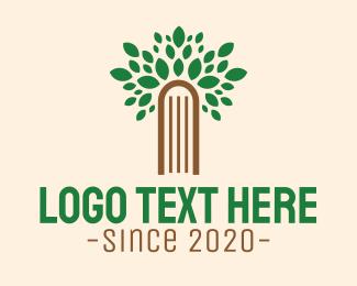 Leaf - Tree Garden Door logo design