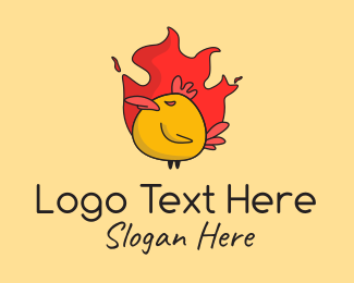 Bird - Flaming Spicy Chicken logo design