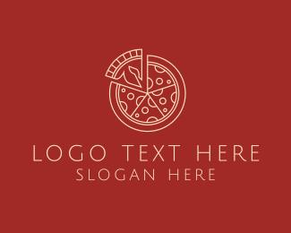 Minimalist Pizza Logo