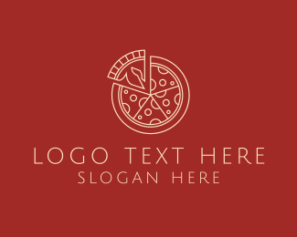 Canteen - Minimalist Pizza logo design