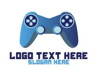 Egames - Blue Controller Gaming logo design