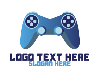 Pubg - Blue Controller Gaming logo design