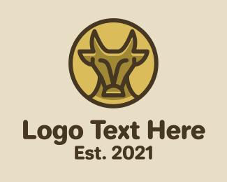 Matador - Minimalist Wild Buffalo logo design