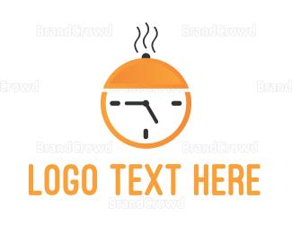 Tray - Food Hour logo design