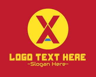 Fortnite - Digital Gaming Monogram X & A logo design