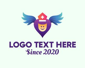 Angel - Medical Healthcare Angel logo design
