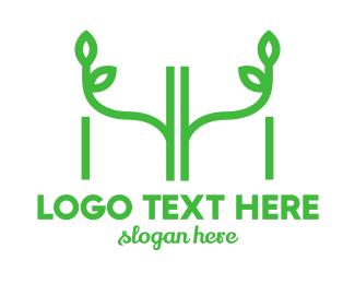 Letter H - H & H logo design