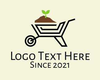 Garden - Gardening Wheelbarrow logo design