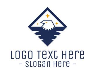 American Eagle - Diamond Blue Eagle logo design