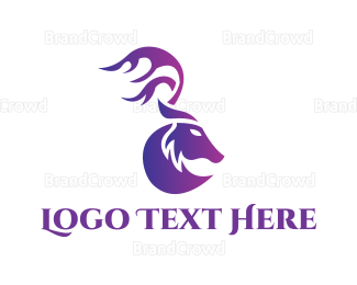 Blue And Purple - Purple Moose logo design