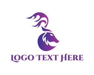 Hunter - Purple Moose logo design