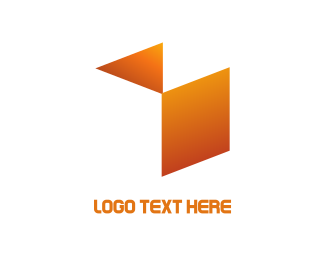 Storage - Abstract Orange  Cube logo design