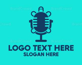 Radio - Turtle Radio logo design
