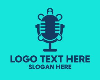 Microphone - Turtle Radio Microphone logo design