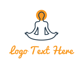 Buddhism - Yoga Yogi logo design