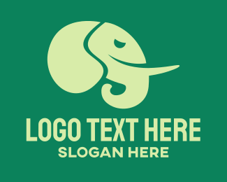 Preservation - Green Elephant logo design