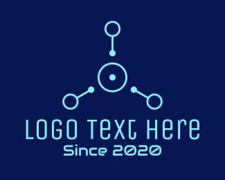Connection - Blue Tech Connection logo design