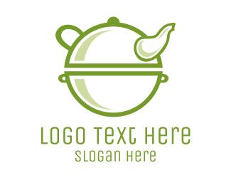 Coffee - Green Antique Teapot logo design