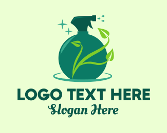 Neat - Green Natural Gardening Spray logo design