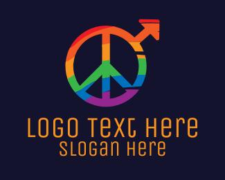 Peace - Colorful Peace Sign logo design